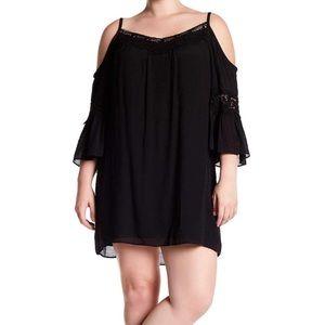 Breathless 3X Black Dress Cold Shoulder Lace NWT
